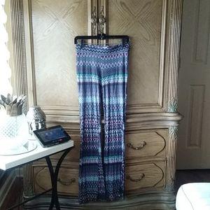 Tribal Print flare stretch pants